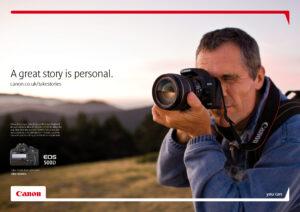 Canon - webbsida, annonskampanjer
